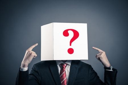 businessman with a white box Stok Fotoğraf