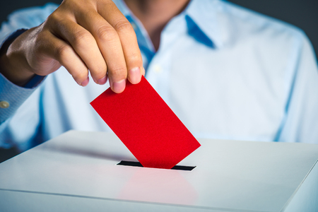 Voting box and election image Banque d'images