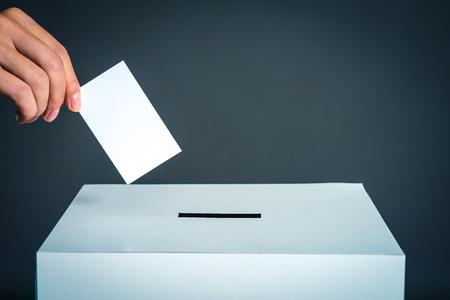 Boîte de vote et image de l'élection Banque d'images - 92416518