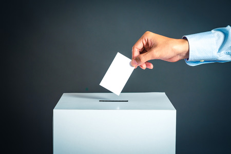 Voting box and election image Stockfoto