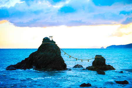 Meoto Iwa in the sea of Mie, Japan