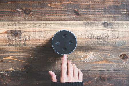 Electronic equipment smart speaker 写真素材