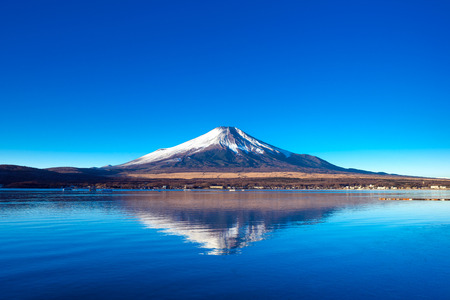 Mount Fuji and lake Yamanaka