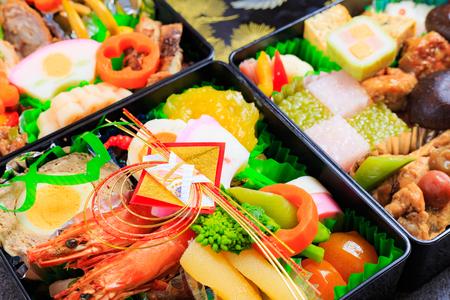 Osechi -  traditional Japanese New Years dish Stock Photo