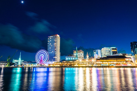 Hyogo,Japan - November 24, 2017: Harbor of Kobe in Japan.Kobe Harborland is a shopping and entertainment district the waterfront of Kobes port area. Editoriali