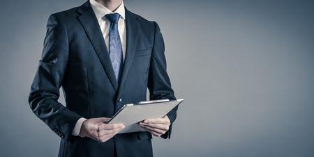 Businessman with gray back Standard-Bild