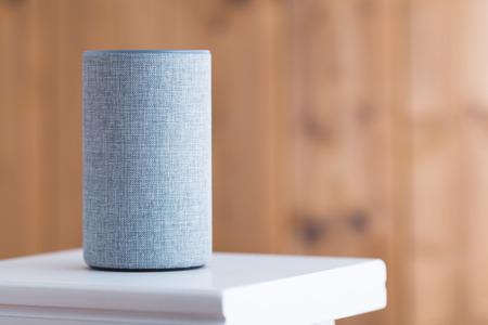 Smart speaker on the stool
