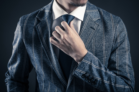 Businessman with gray back Zdjęcie Seryjne