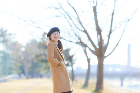 Japanese happy woman lifestyle