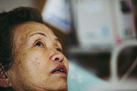 Elderly women hospitalized