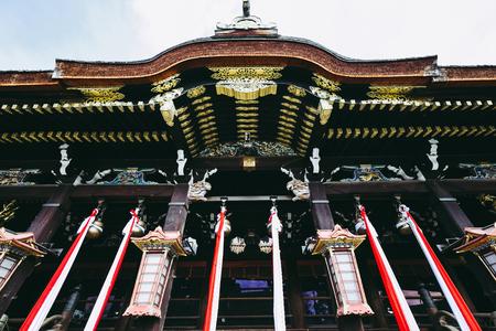 Kyoto,Japan - 3 February 2018 :Kitano Tenmangu Shrine of Kyoto, Japan.This shrine was dedicated to noted scholar and poet Sugawara-no-Michizane in 947. Editorial