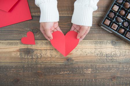 Valentines day chocolate Reklamní fotografie