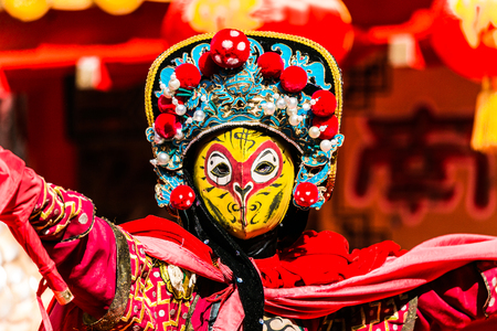 Kobe, Japan - February 16 2018 - Bian Lian,The Art of Chinese Face Mask Changing.