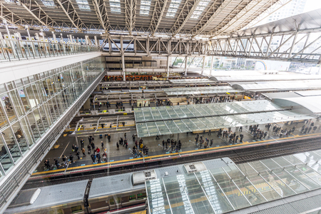 Osaka, Japan -  22 February 2018 - JR Osaka Station in Osaka of Japan.This is a station of West Japan Railway Company.