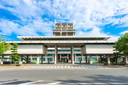 Nara, Japan - September 21, 2017: Nara is the capital city of Nara Prefecture located in the Kansai region of Japan. The city occupies the northern part of Nara Prefecture, bordering Kyoto Prefecture.