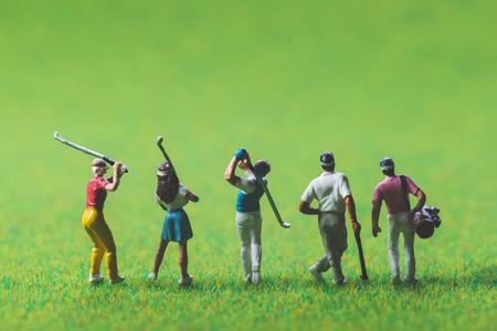 Golfer of miniature people