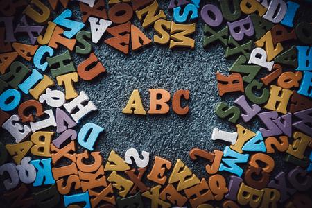 Wooden small alphabet 写真素材