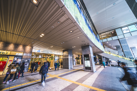 Osaka, Japan -  21 March 2018 - JR Osaka Station in Osaka of Japan.This is a station of West Japan Railway Company.