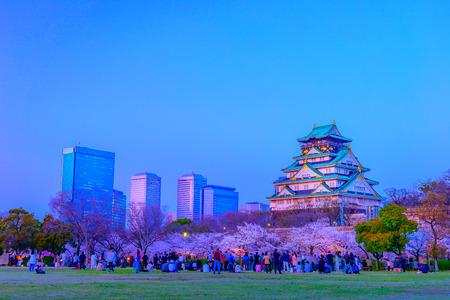 Osaka,Japan - March 28, 2018: Osaka Castle in Osaka, Japan. The castle is one of Japans most famous landmarks.