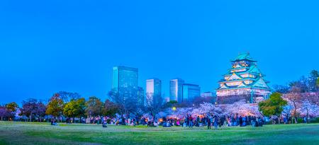 Osaka,Japan - March 28, 2018: Osaka Castle in Osaka, Japan. The castle is one of Japan's most famous landmarks. 스톡 콘텐츠 - 101239693