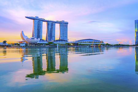 Morning glow of Singapore Stock Photo - 101835489