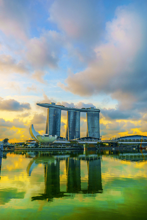 Morning glow of Singapore