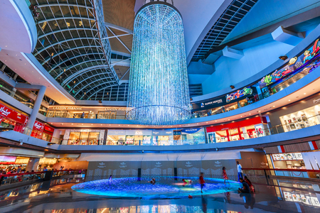 SINGAPORE, May 15,2018 : Shopping mall at Marina Bay Sands Resort in Singapore.