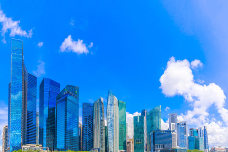 Singapore city skyline of business district downtown 報道画像