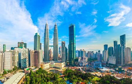 Panoramę miasta Kuala Lumpur, Kuala Lumpur Malezja