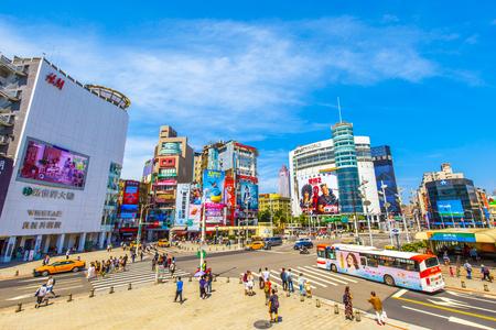 taipei,taiwan - May 10,2018 : Ximending is a neighborhood and shopping district in the Wanhua District of Taipei, Taiwan. Editöryel