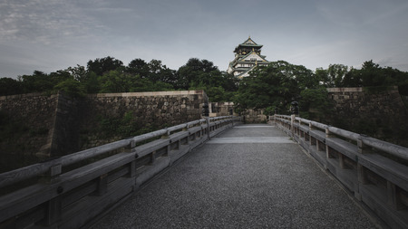 Osaka,Japan - July 13, 2018: Osaka Castle in Osaka, Japan. The castle is one of Japan's most famous landmarks.