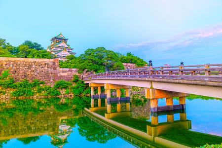 Osaka,Japan - July 13, 2018: Osaka Castle in Osaka, Japan. The castle is one of Japans most famous landmarks.