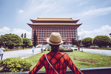 taipei,taiwan - May 10,2018 : The Grand Hotel is a landmark located at Yuanshan in Zhongshan District, Taipei, Taiwan. The hotel was established in 1952.
