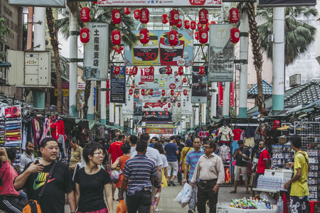Kuala Lumpur,Malaysia - May 13,2018 -  Petaling Street is a Chinatown located in Kuala Lumpur, Malaysia. This place is usually crowded with locals as well as tourists.