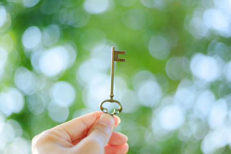 Green blur background and keys