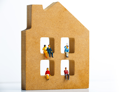 Residential model and miniature person