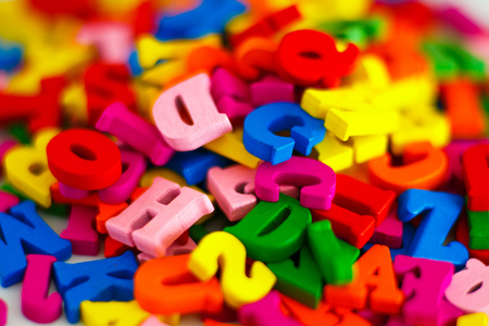 Colorful and alphabet 版權商用圖片