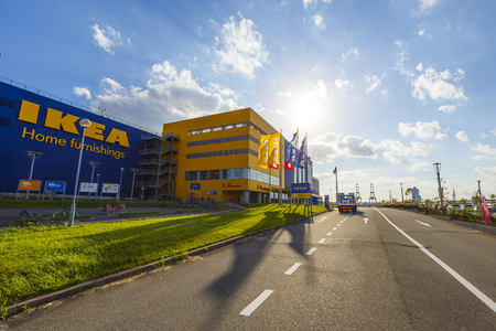 Osaka, Japan - oktober 1,2018 - IKEA tsurumaha winkel in Taisho-ku Osaka, Japan.