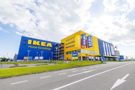 Osaka, Japan - October 1,2018 - IKEA tsurumaha store in Taisho-ku Osaka,Japan. Redactioneel