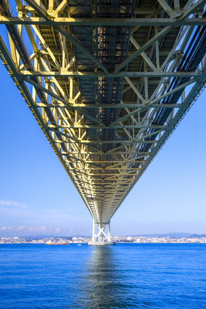 Akashi Kaikyo Bridge at Kobe Hyogo,Japan