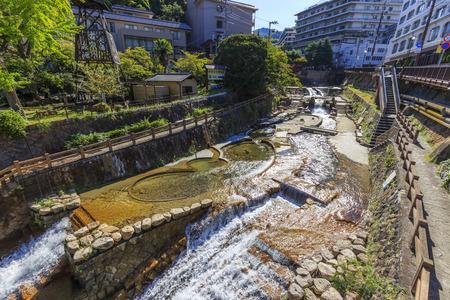 Hyogo,Japan - October 3,2018 - Arima hot spring resort in Kobe in Hyogo Prefectures in Japan.