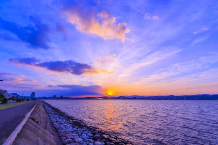 Lake-Shinji in Matsue, Shimane, Japan