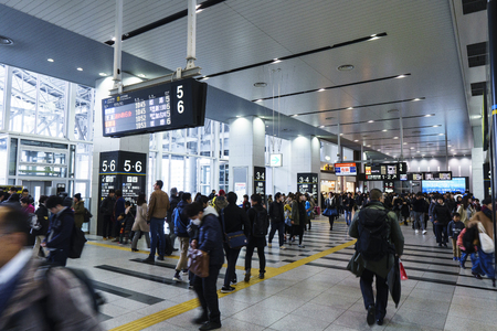 Osaka,Japan - December 15 2018:Osaka Station is a major railway station in Osakas Umeda district that is served by a large number of local and interregional trains