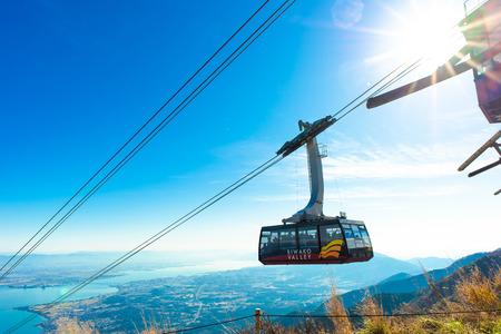 shiga,Japan - November 13,2017 : Biwa Lake Valley at Shiga Japan. Lake Biwa located at the centre of Shiga Prefecture, is the biggest lake in Japan. Stok Fotoğraf - 114645456