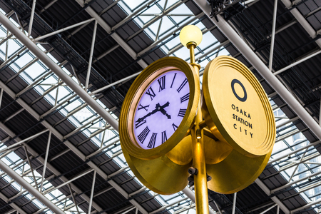 Osaka,Japan - July 12 2017:Osaka Station is a major railway station in Osakas Umeda district that is served by a large number of local and interregional trains Редакционное
