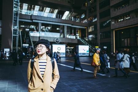 Asian female traveler in Japan