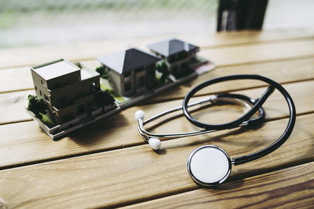 Stethoscope and house 写真素材