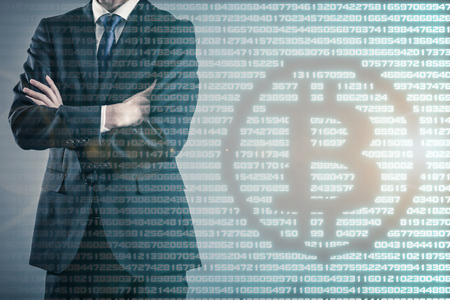 Bitcoin and business 写真素材