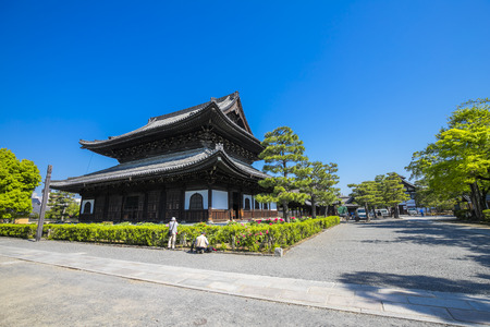 Kyoto, Japan - April 21 2018: Kennin-ji Temple was built in 1202 years.This is the oldest Zen temple in Japan.This temple was built by Minamoto no Yoriie. Editöryel