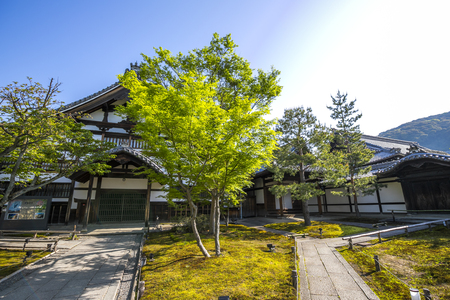 Kyoto, Japan - April 21 2018: Kodaiji temple was built in 1606 years.This temple was built by the wife of Hideyoshi Toyotomi.